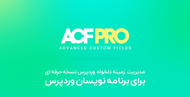 افزونه ACF مدیریت زمینه دلخواه وردپرس نسخه حرفه ای