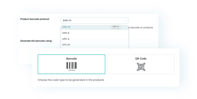 Apply barcodes or QR codes